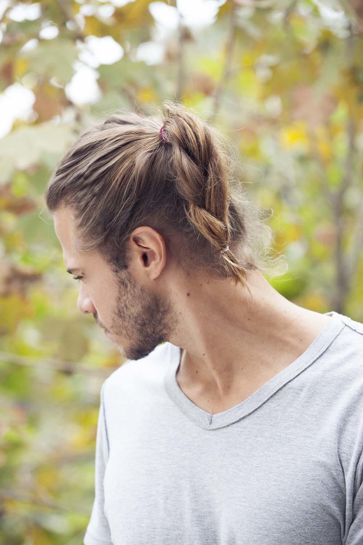 11 mens hair braid ponytail