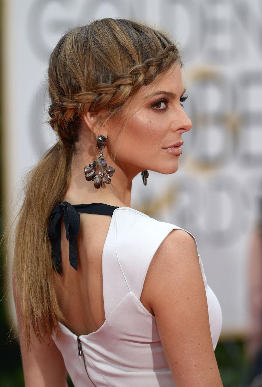 12 maria menounos braid ponytail