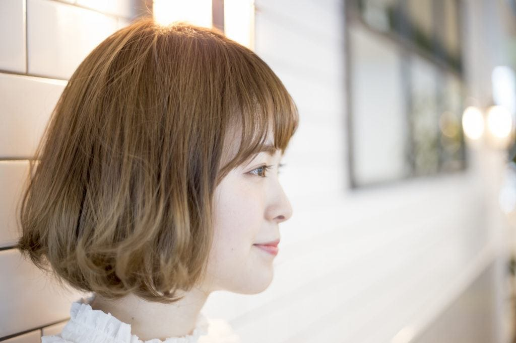 bob-dengan-tekstur model rambut korea