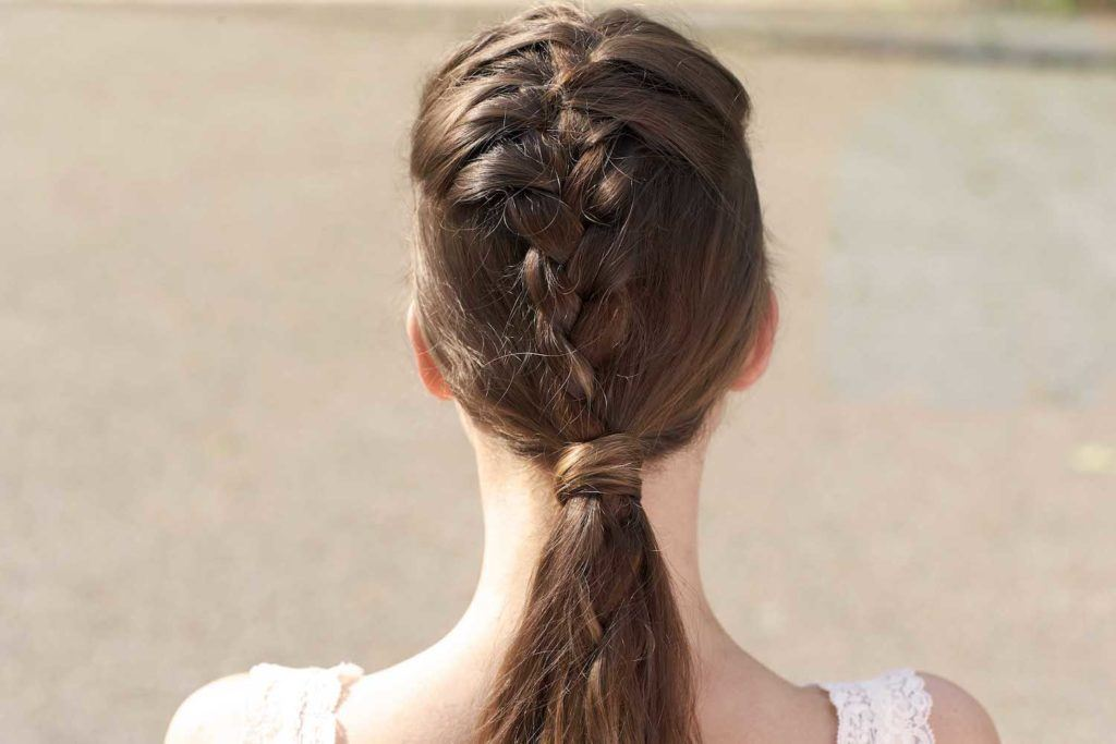 French plait pony.