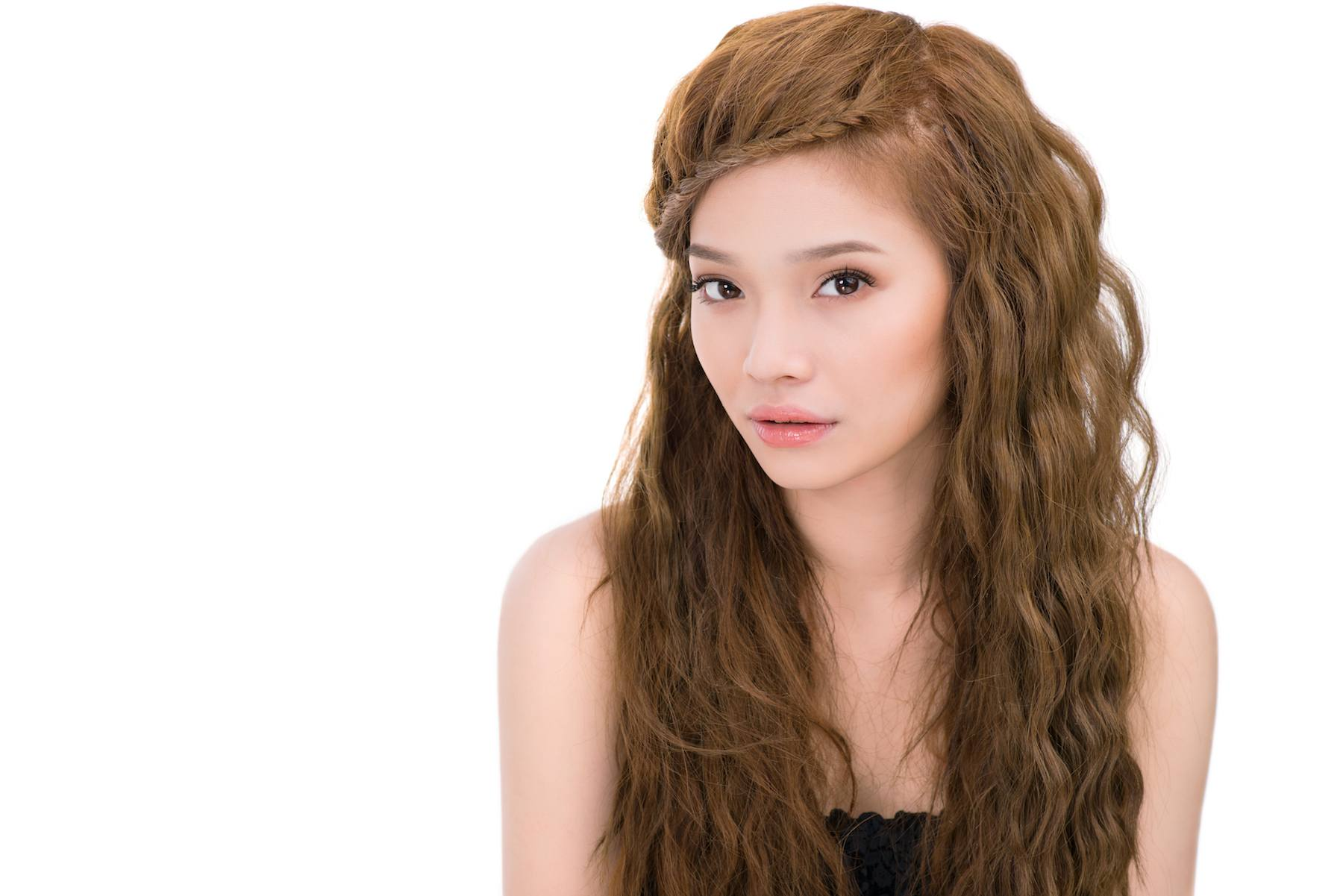 halo braids pada rambut keriting