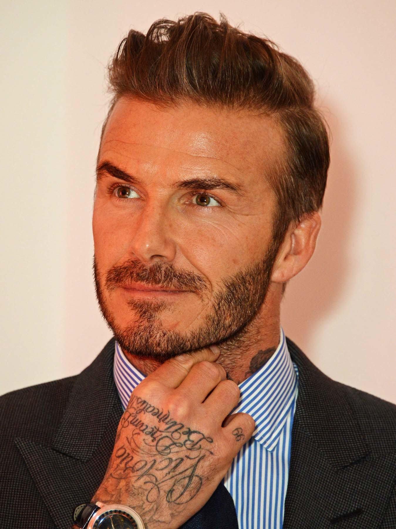 David Beckham gaya rambut pemain sepak bola