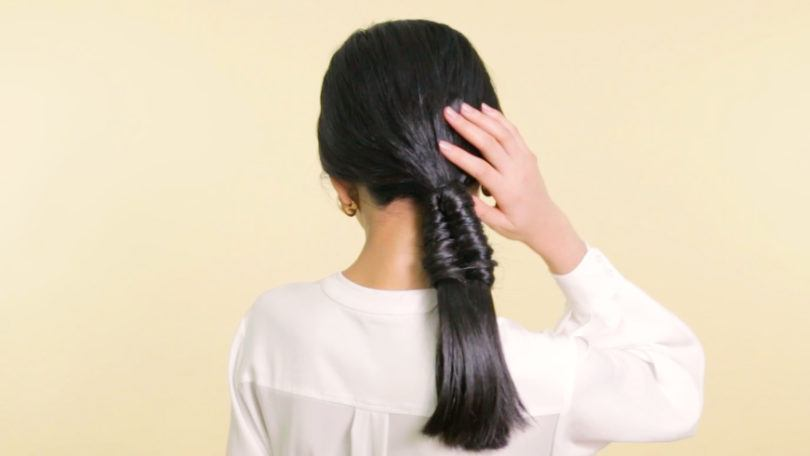 Gaya rambut pesta akhir tahun infinity braid