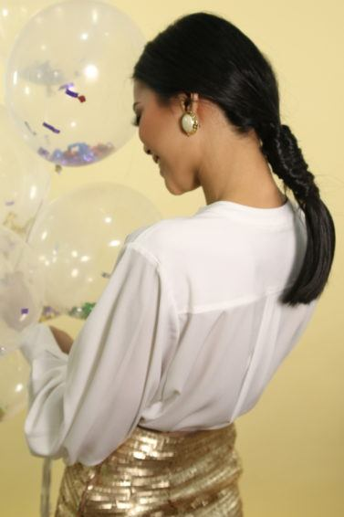 Gaya rambut pesta tahun baru infinity braid