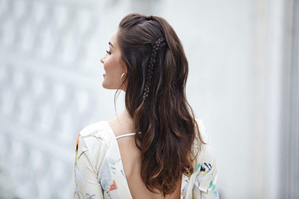 tatanan rambut pesta simple model rambut bohemian braid.