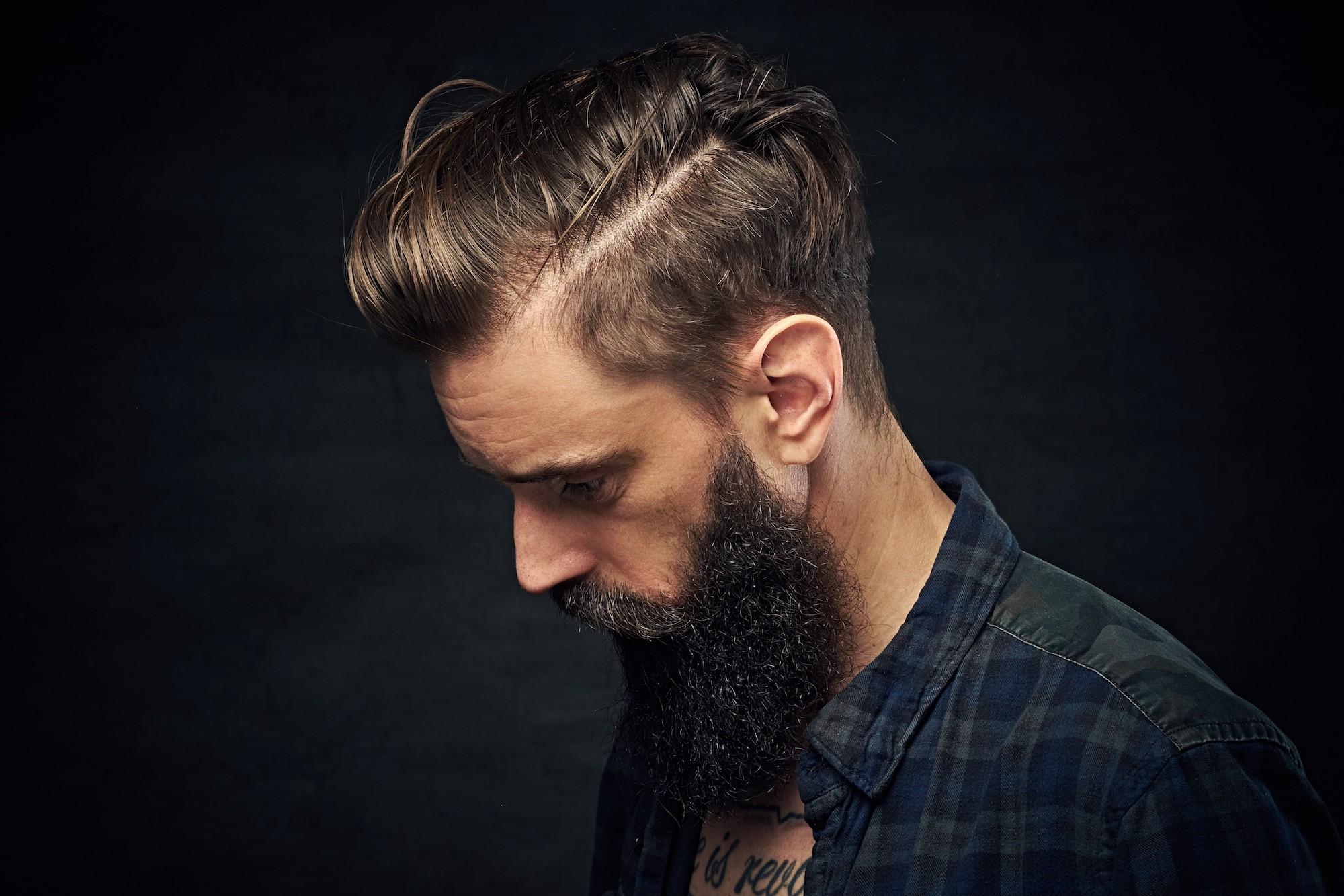 Model rambut pria terbaru 2018 side parting