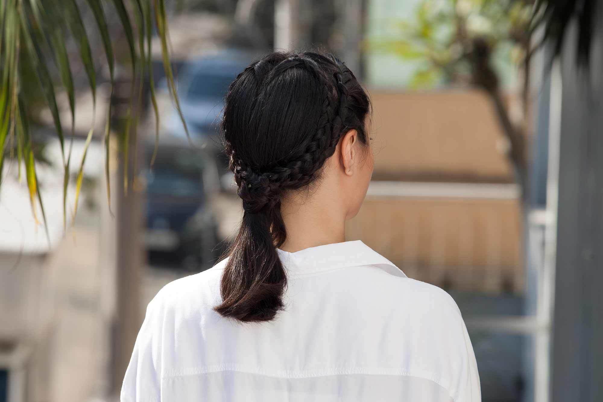 gaya rambut kepang hati