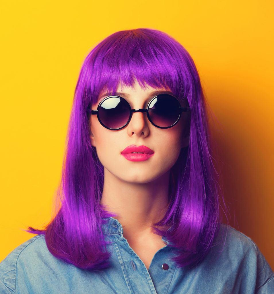 Warna rambut ungu fuschia