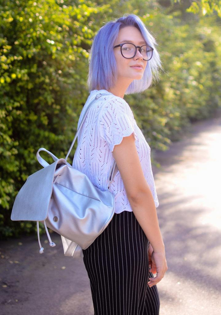 Warna rambut ungu pastel