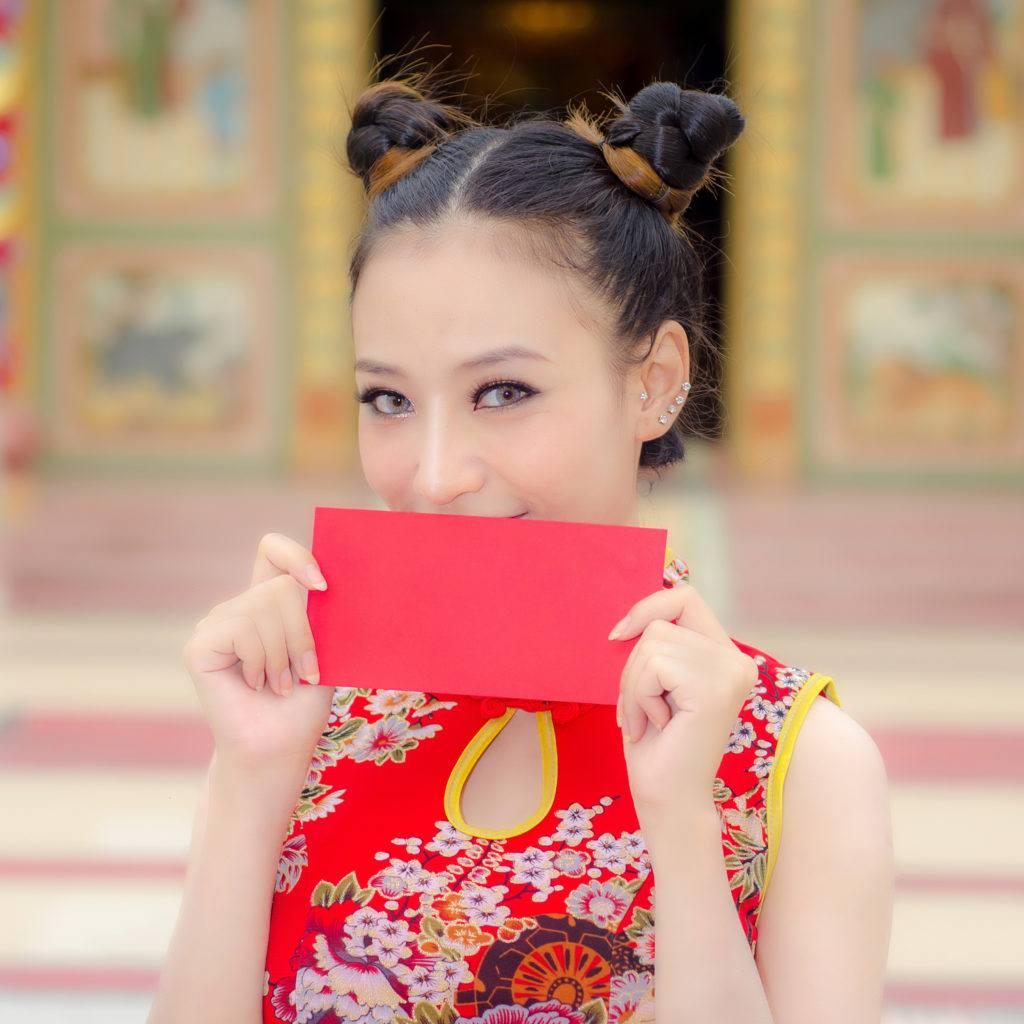 Gaya rambut Imlek Tahun Baru Cina 2018 - Space bun.