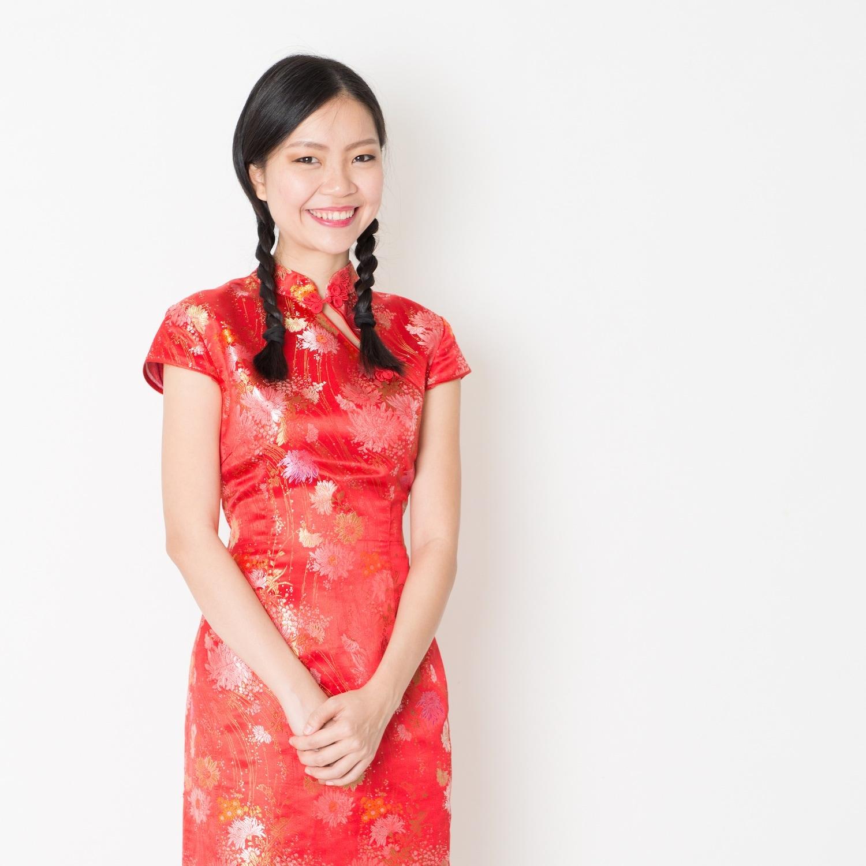 Gaya rambut Imlek Tahun Baru Cina 2018 - gaya three strands braid.