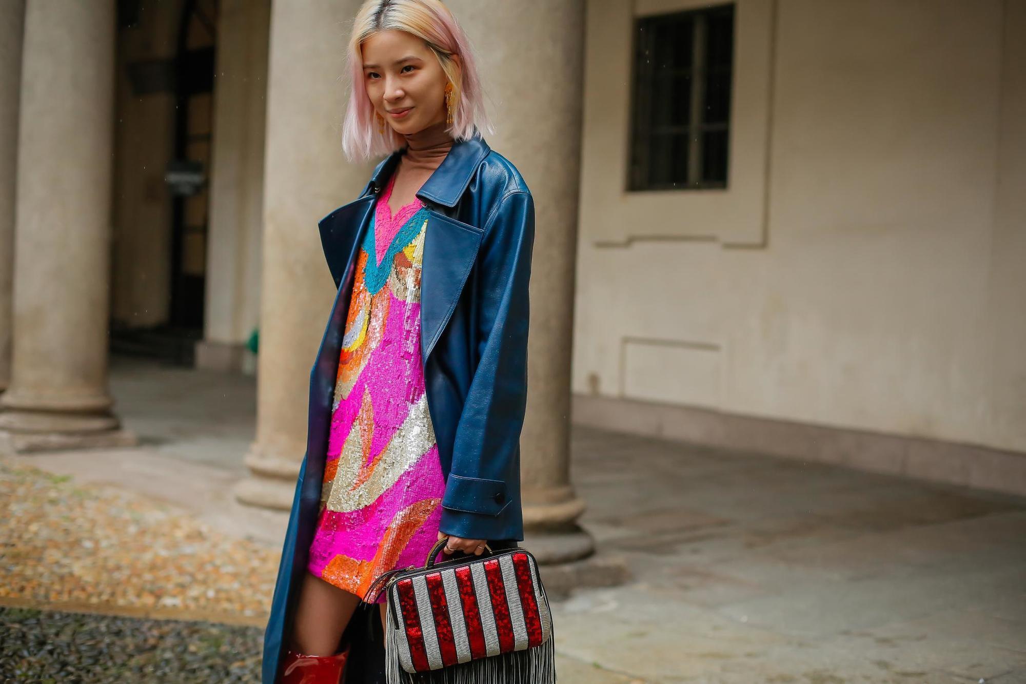 trend warna rambut ombre neapolitan di milan fashion week 2018