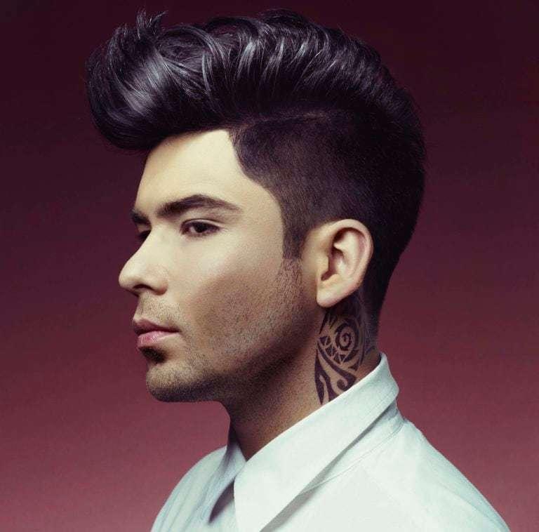 Rockabilly hairstyles pompadour dengan undercut.