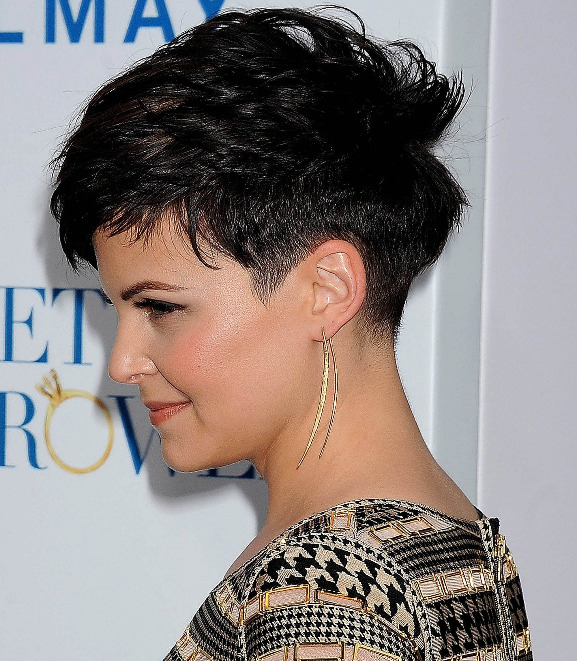 Ginnifer goodwin rambut undercut.
