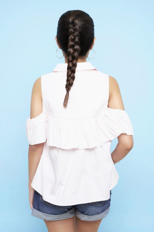 Tampilan akhir Dutch braid