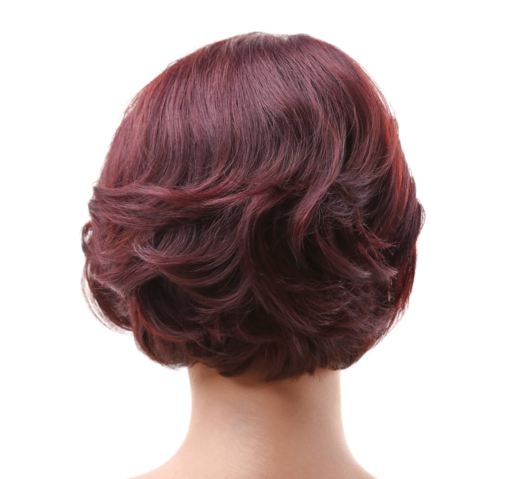 Warna rambut merah maroon deep red.