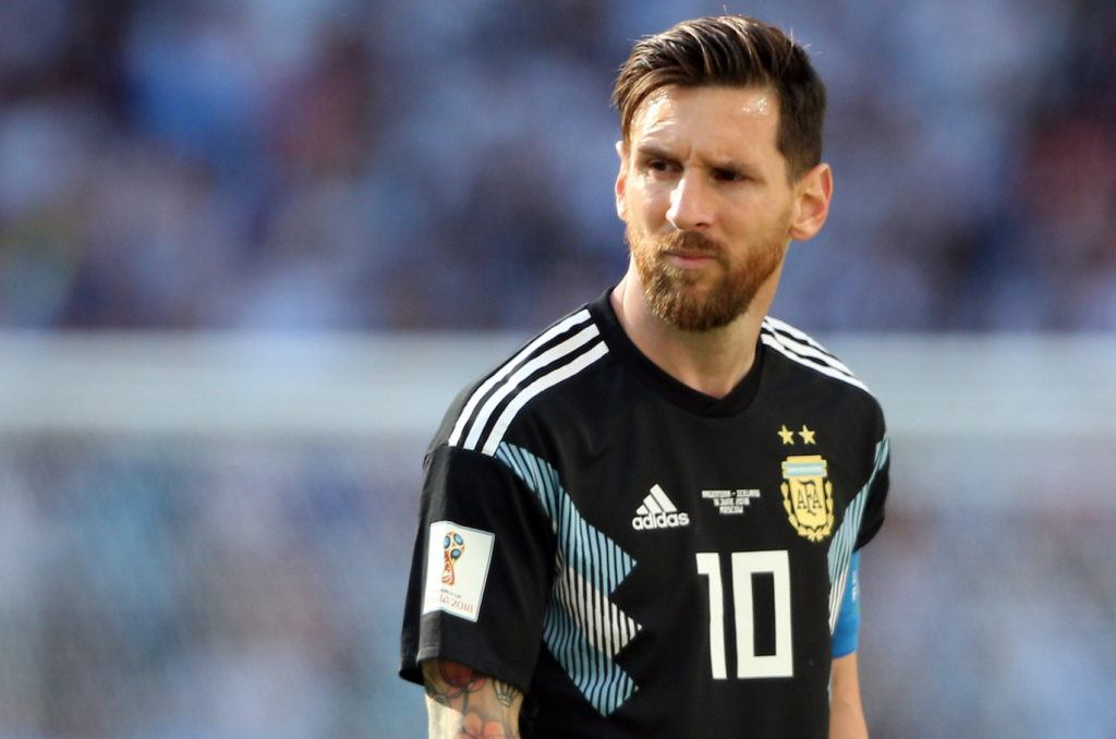 Side swept - Lionel Messi gaya rambut pemain timnas World Cup 2018.