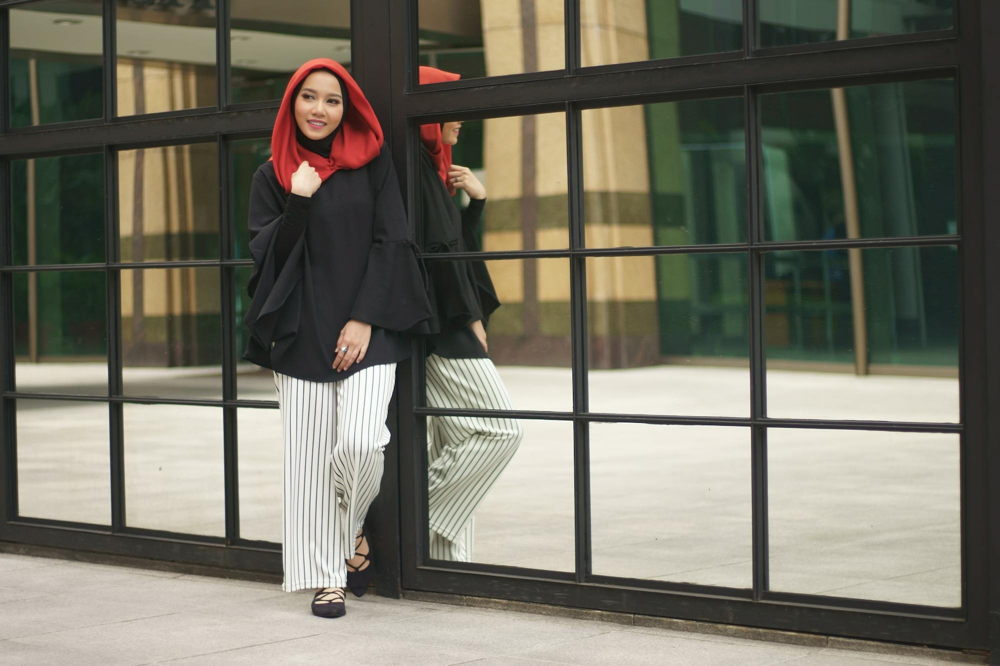 gaya hijab paris