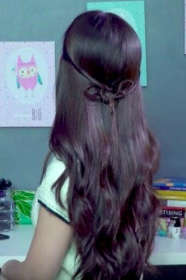 gaya rambut sweet mini bow