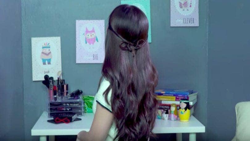 gaya rambut sweet mini bow
