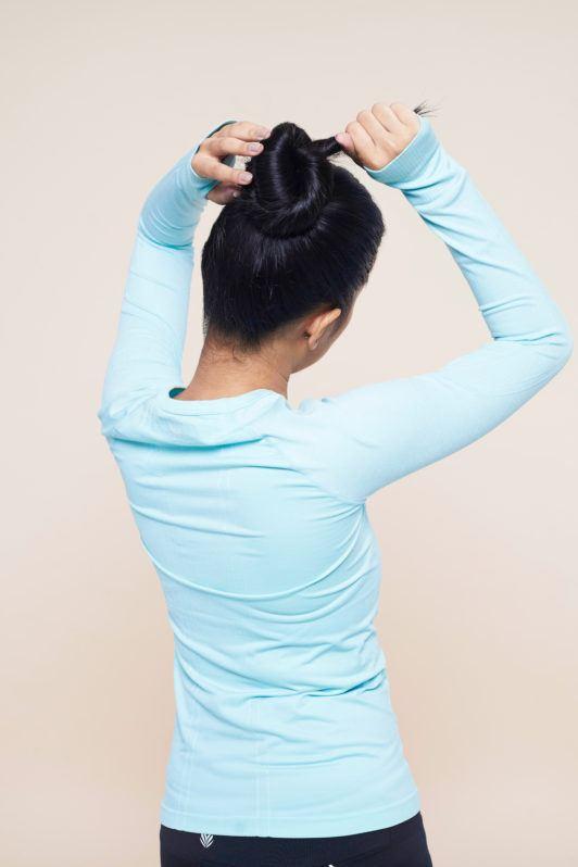 Step 4 – Ballerina bun.