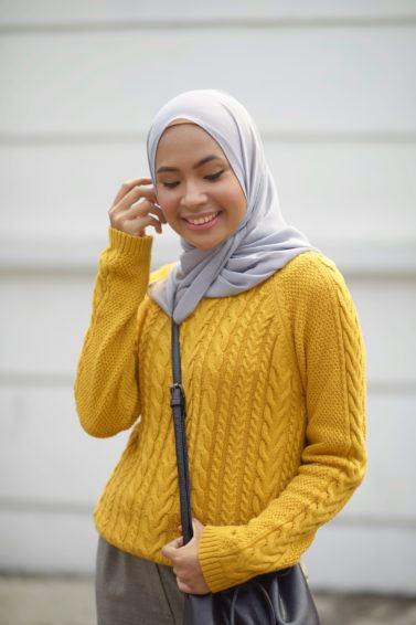 gaya hijab untuk wajah bulat