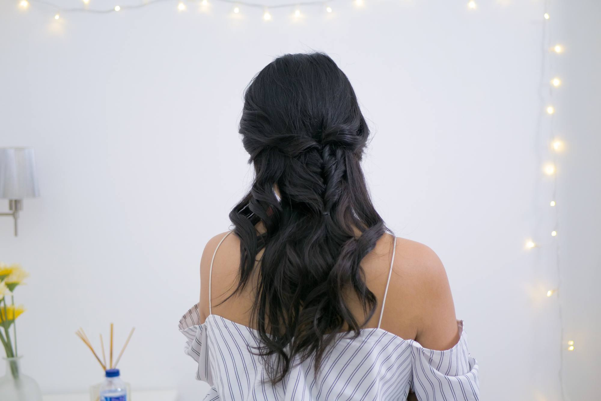 rambut half twisted pull through braid a la Ana Octarina