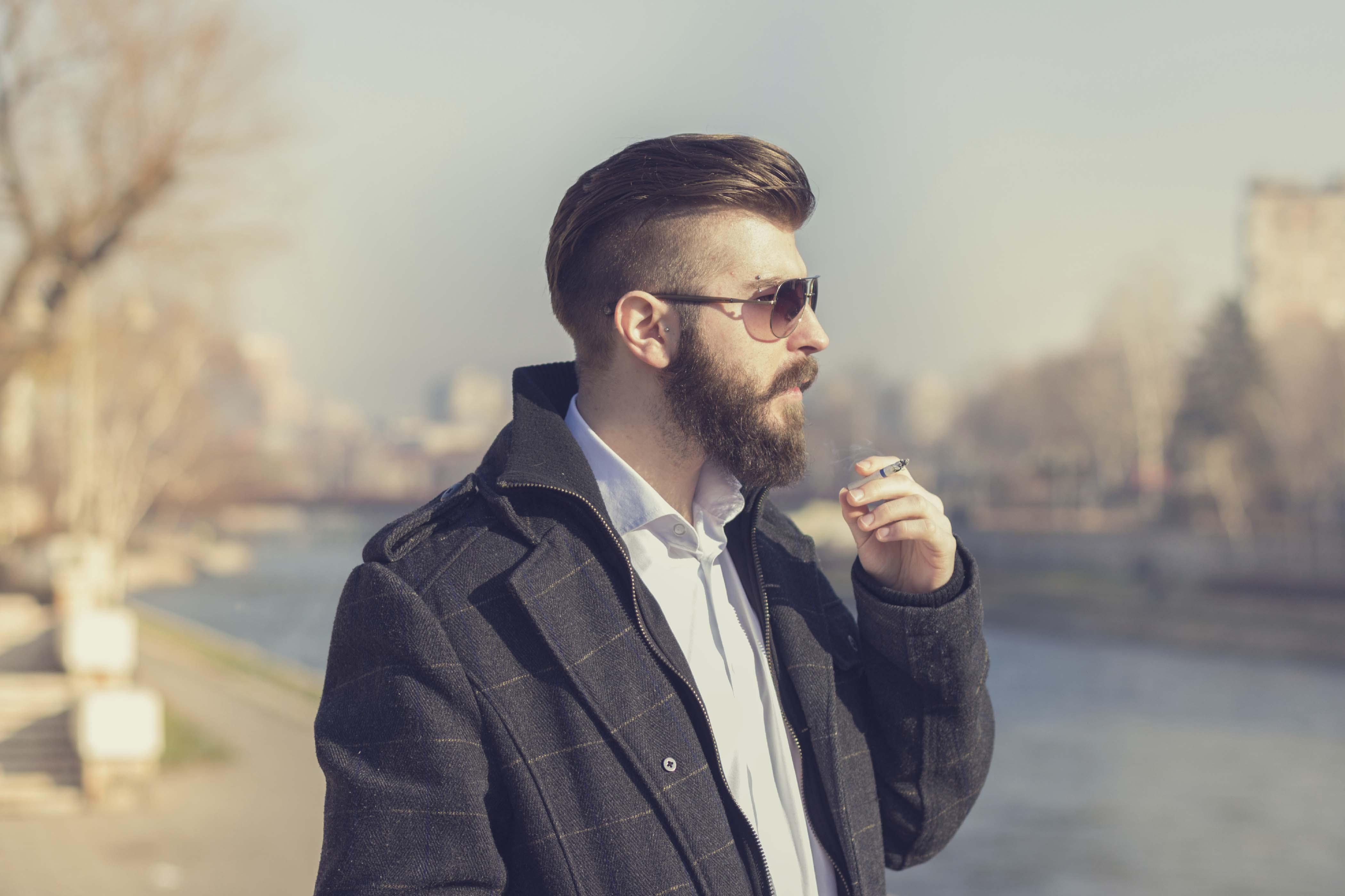Hipster con corte degradado