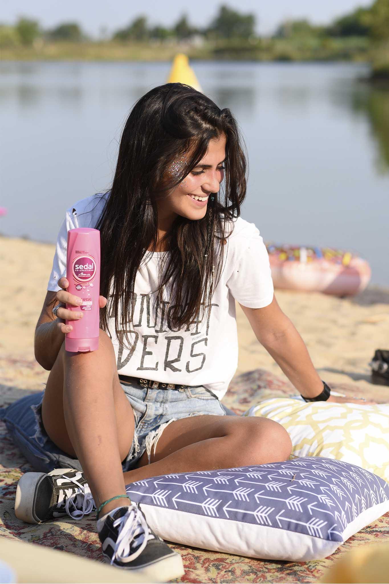 Producto sedal shampoo ceramidas sol moreno verano playa