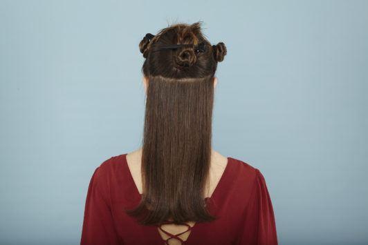 modelo de como secar cabelo liso