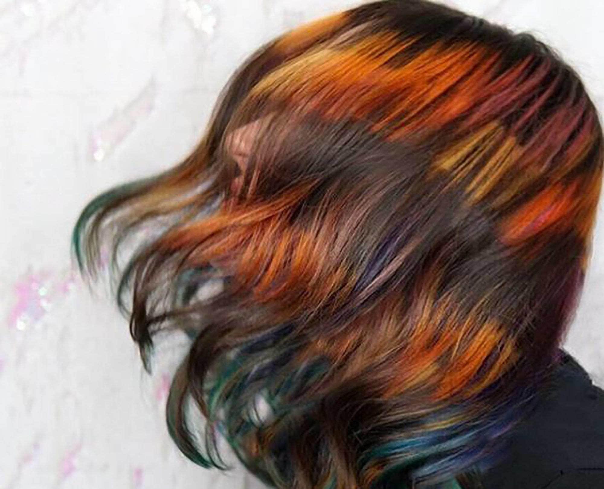 modelo com cor de cabelo inspirada em Harry Potter