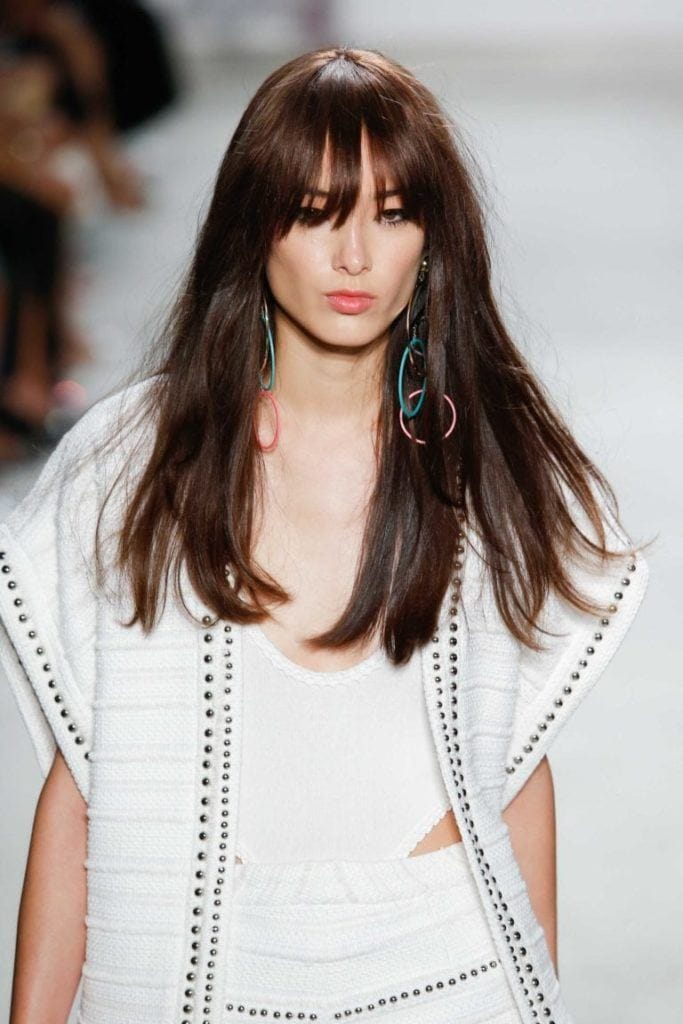 korean hairstyles: wispy bangs