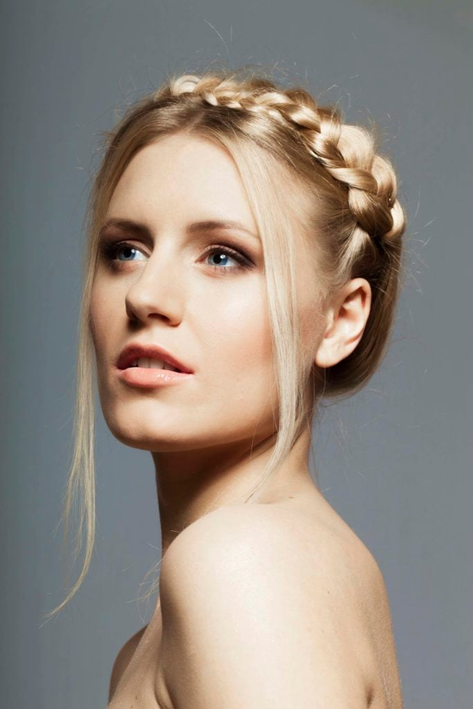 wedding hairstyles for thin hair crown braid