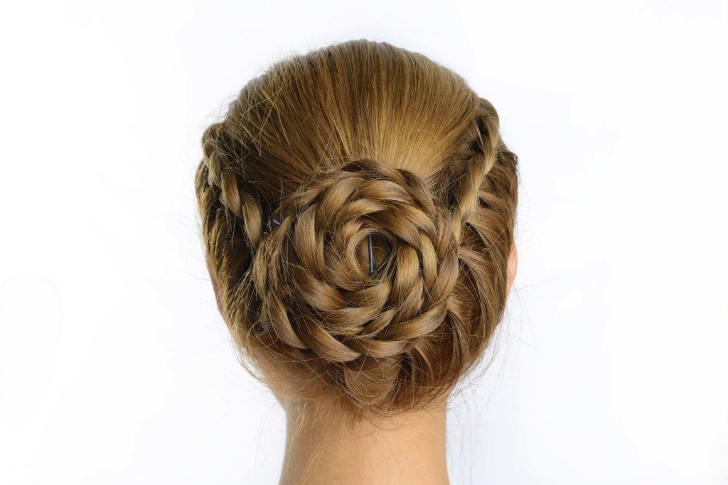 braided updo long braid swirl