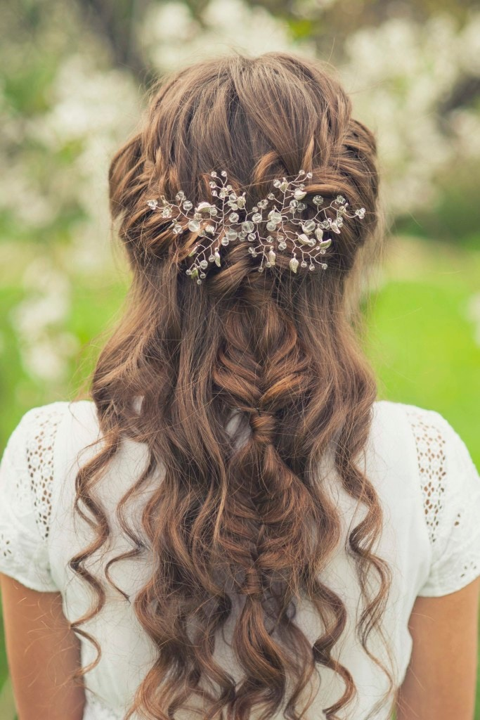 braids for fancy wedding day