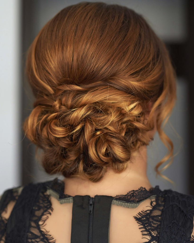 up styles for long thick hair chic wedding styles for thin hair 6938 | copper loose updo wedding 820x1024