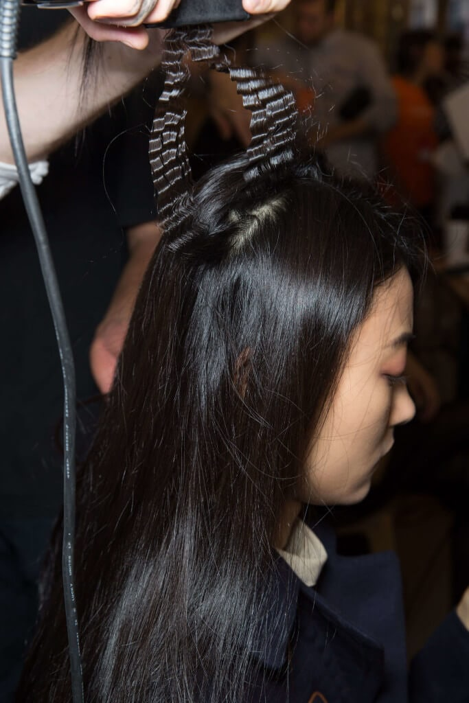 Asian hair crimps