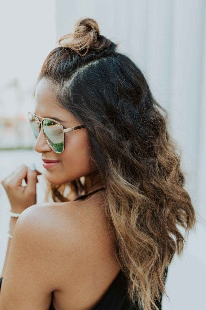 long hairstyles for thin hair: waves