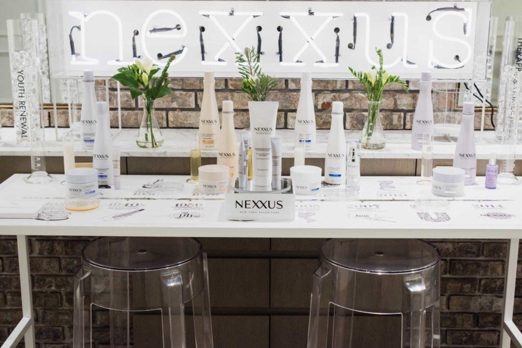 Nexxus hair care line
