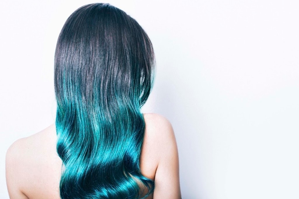 how to rock blue ombre hair like an adult