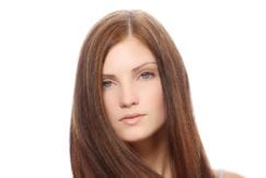 Long beautiful brown hair