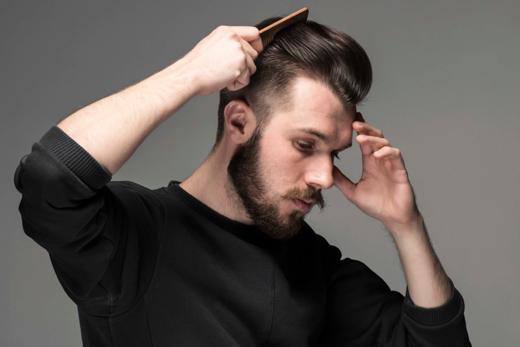 comb-over fade haircut