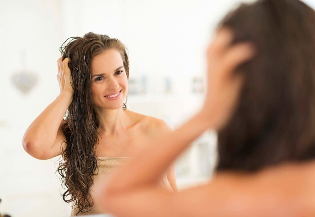 curly hair care wet shower