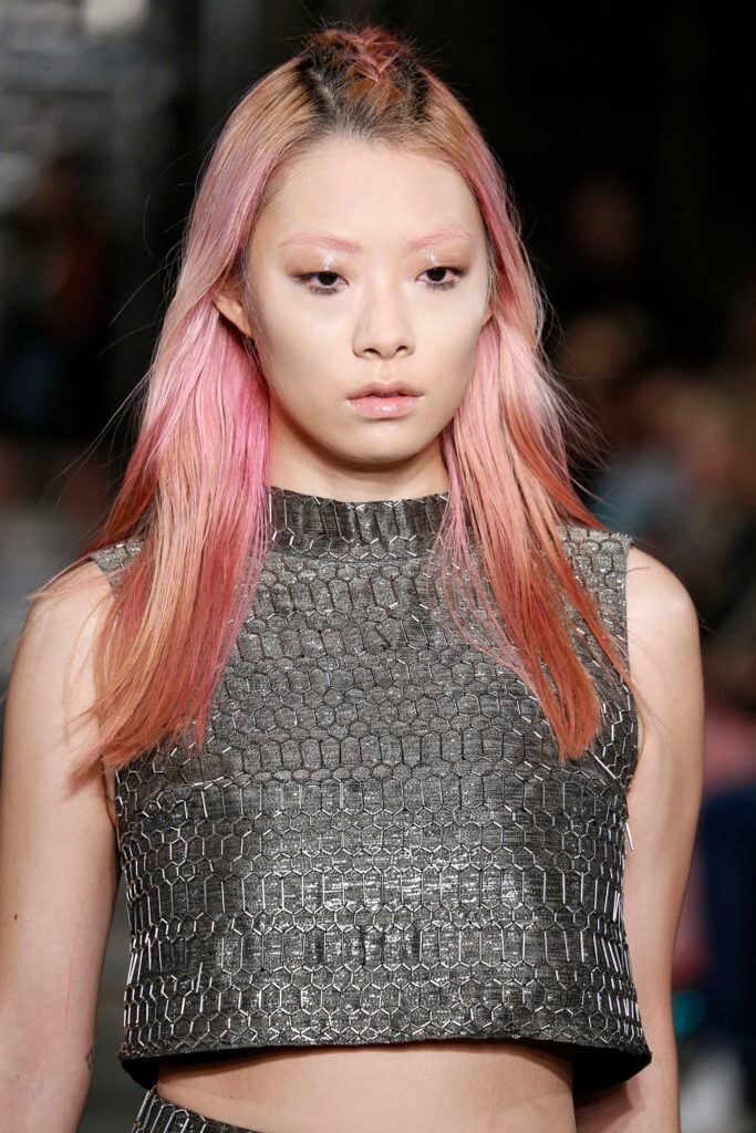 Japanese hairstyles pink ends