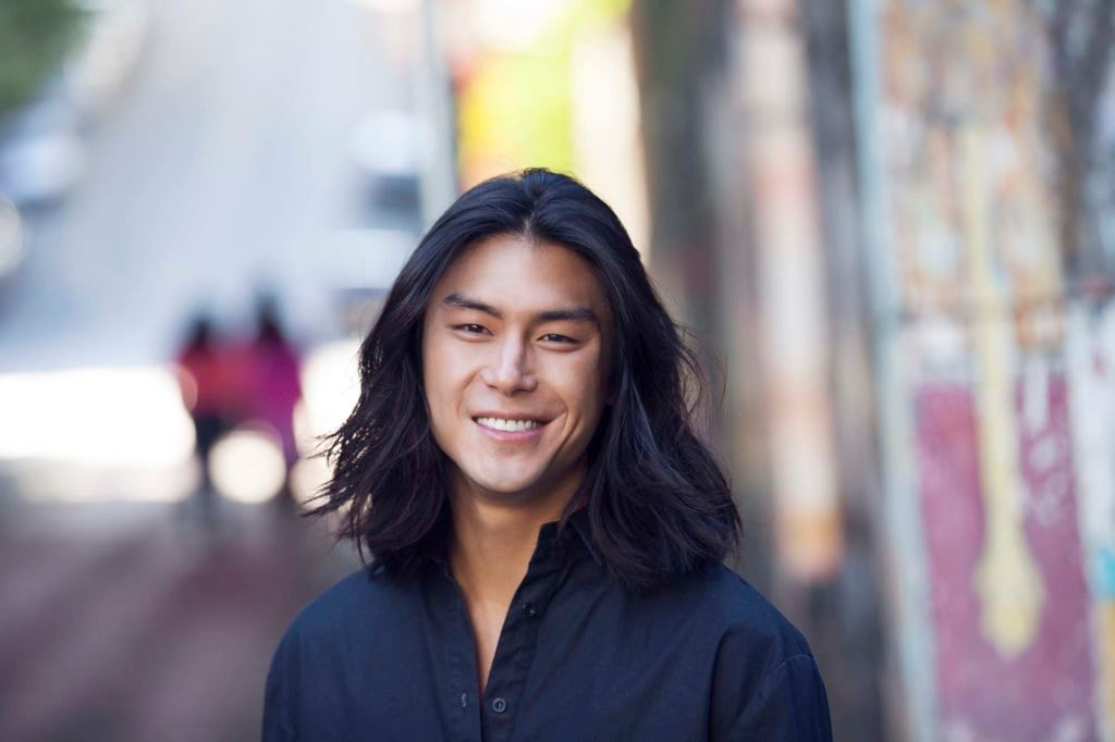 asian men's hairstyles long and straight