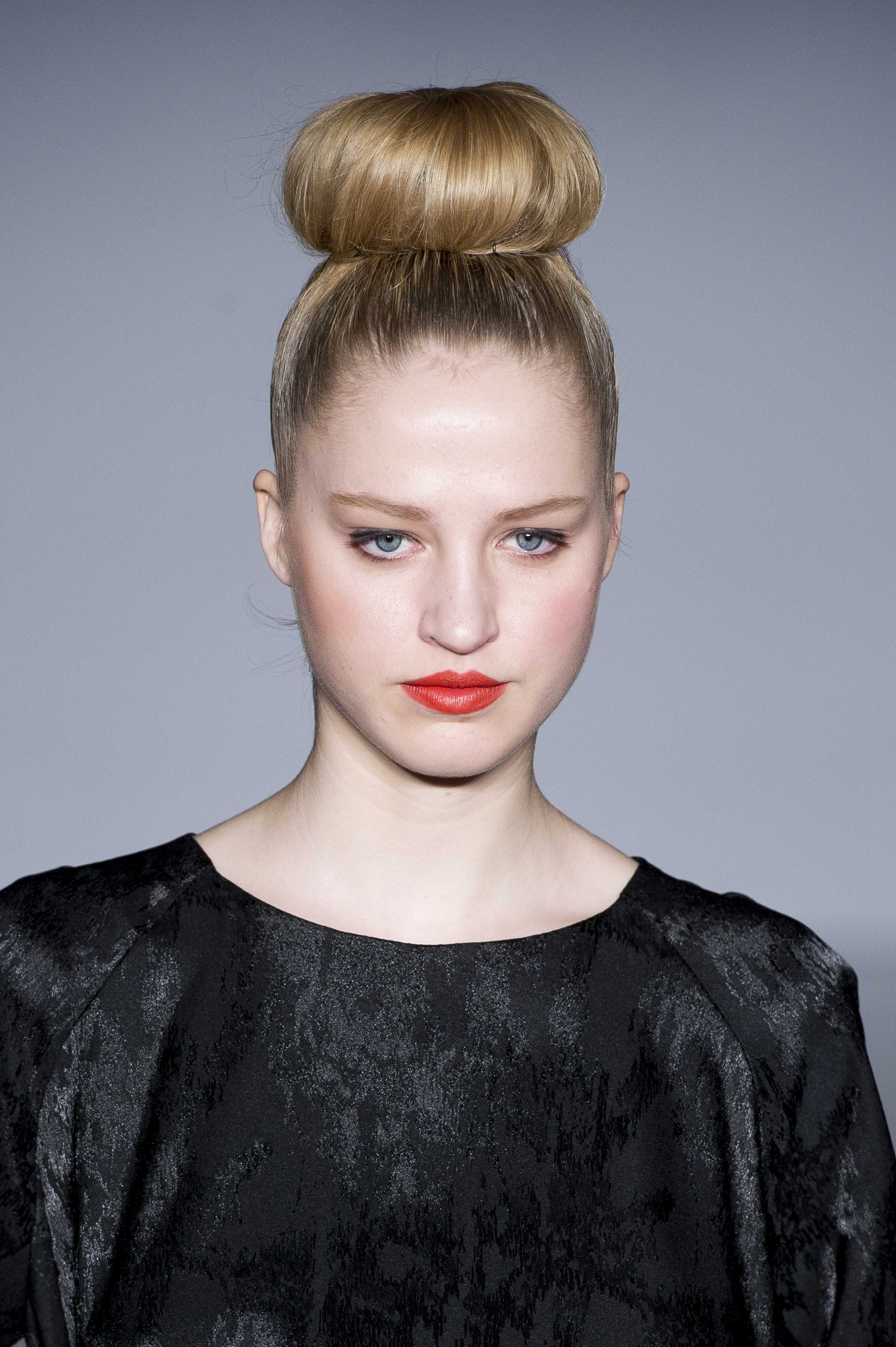 Thanksgiving Holiday Hairstyle top knot