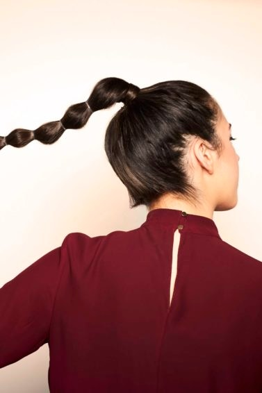 bubble pony hairstyle ideas