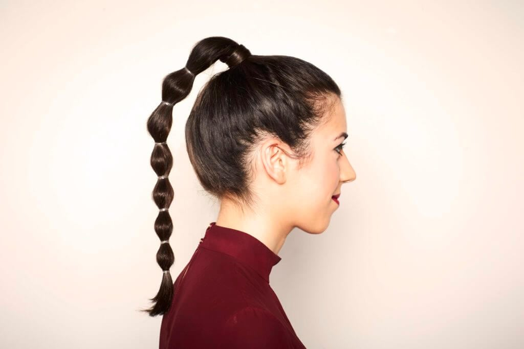 evening hairstyles bubble pony