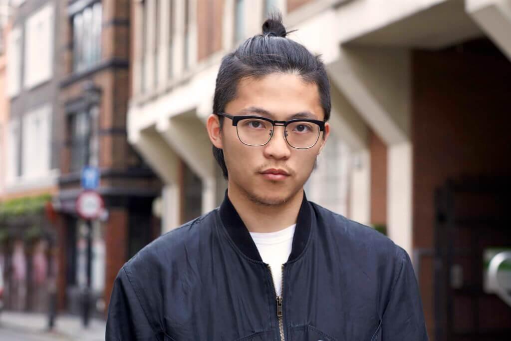 best man bun hair trend asian small knot