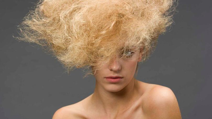 Blonde dry hair